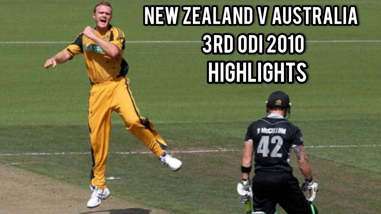 New Zealand V Australia | 3rd ODI 2010 | Highlights