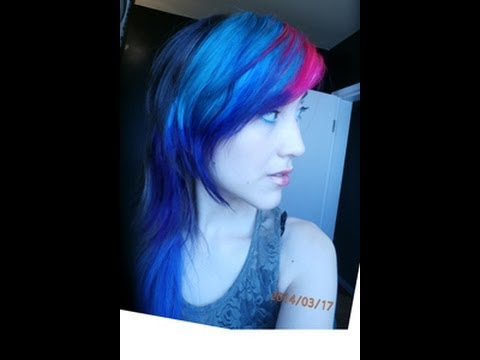 hair color tutorial using punky color plum punky color lagoon blue and manic panic hot hot pink youtube - Punky Color