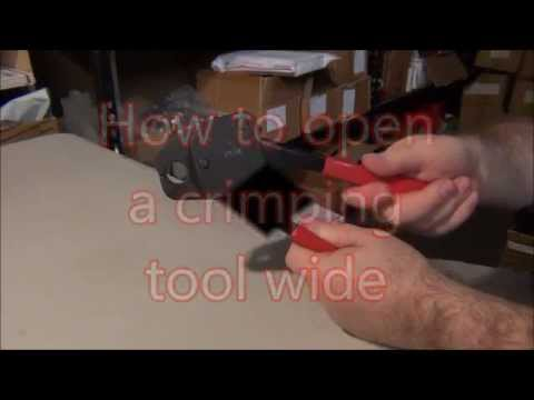 how to open a pex crimping tool wide youtube. Black Bedroom Furniture Sets. Home Design Ideas