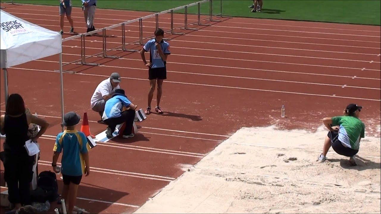 Harris Yell, 12yrs, jumps 6.04m (19'10'), just misses world record, Qld U13 Long Jump, Mar. 2015