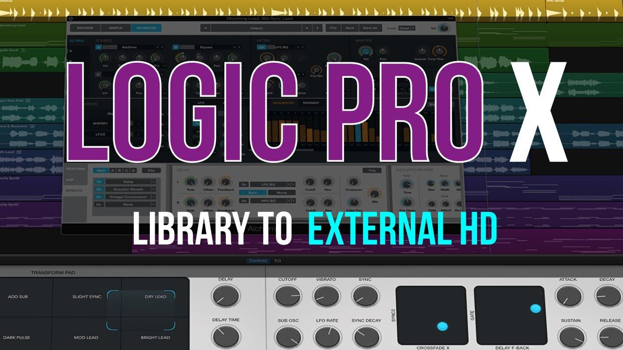 Best Way to Move Logic Pro X Sound Libraries to External Hard Drive