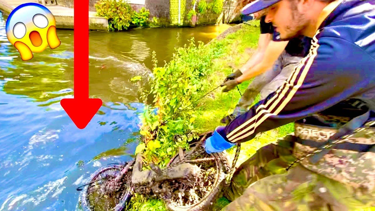 Magnet Fishing a House Built in 1448! Crazy Finds *Cannonball Found*