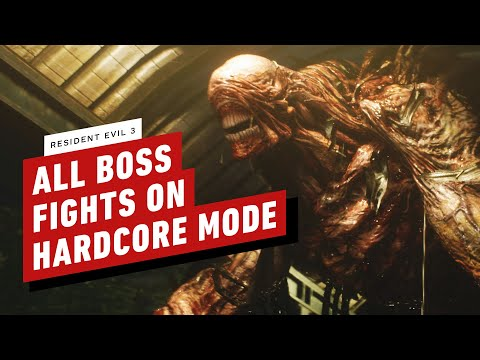 Resident Evil 3 - All Boss Fights on Hardcore Mode