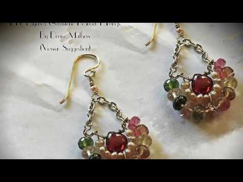 How to Make DIY Layered Gemstone Earrings(Viewers Request) by Denise Mathew