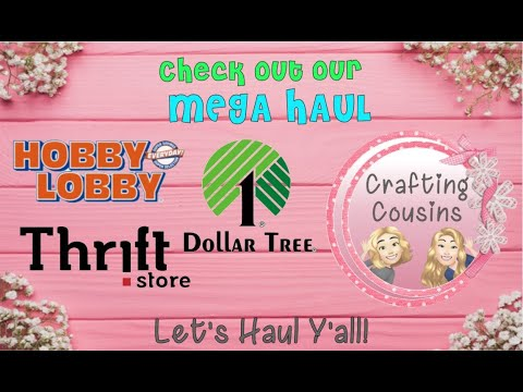 CRAFTING MEGA HAUL from Hobby Lobby,  Dollar Tree and the Thrift Store | Craft Supplies & Tools