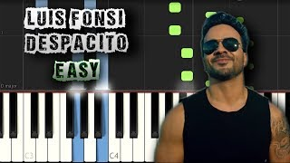 Luis Fonsi - Despacito ft. Daddy Yankee - EASY [Piano Tutorial Synthesia] (Download MIDI + Sheets)