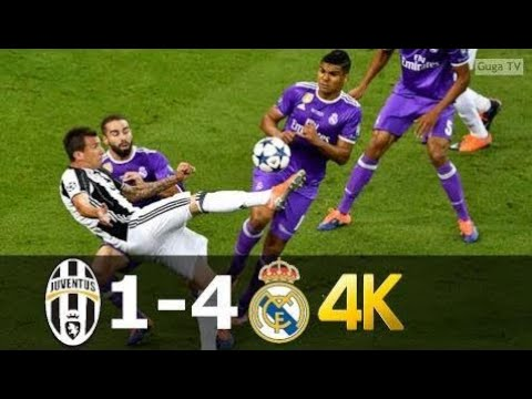 Juventus vs Real Madrid 1-4 - UHD 4k UCL Final 2017 - Full Highlights (English Commentary) |❤