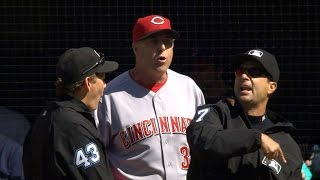 Reds manager Price gets ejected before game