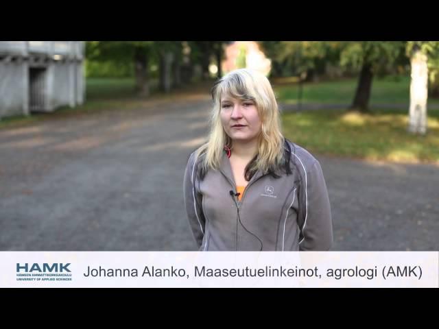 Hämeen ammattikorkeakoulu - Hevostalous ja maaseutuelinkeinot - Agrologi (AMK)
