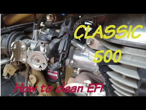 Royal Enfield Desert Storm 500 | How to Clean EFI | Complete process