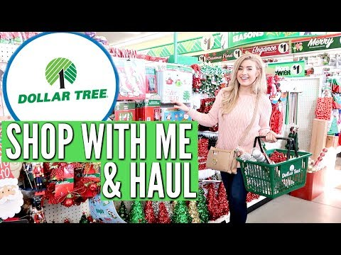 DOLLAR TREE SHOP WITH ME & HAUL CHRISTMAS 2018 | Love Meg