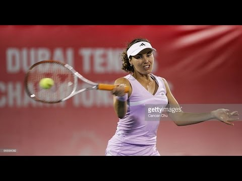 Martina Hingis VS Sania Mirza Highlight Dubai 2006 R1