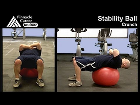 Stability Ball Crunch - Exercise Technique Lab