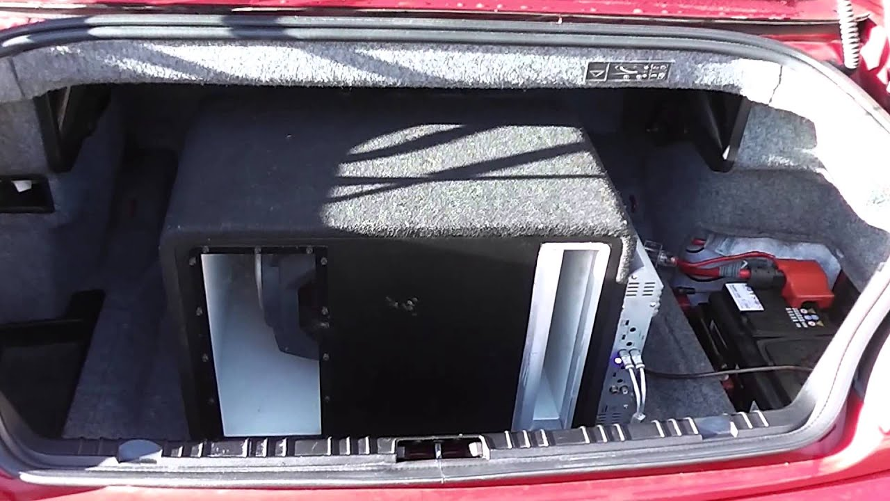 Bmw E46 Cabrio Jbl Subwoofer First Fitting Youtube