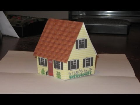 ... pop up cottage card with narration, also gingerbread house. - YouTube