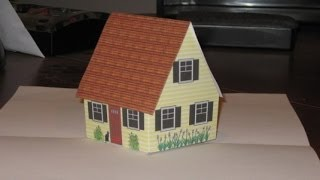 Make Pop Up Cottage Card With Narration, Also Gingerbread House.