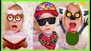 ЕВА ИГРАЕТСЯ СО СНЭПЧАТОМ -  snapchat смешные видео для детей. ДЕТСКИЙ КАНАЛ 😜