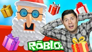 SANTA CLAUS had an accident on new year's Eve in ROBLOX and lost all the presents Game letsplej from EFG