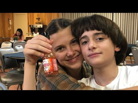 MILLIE BOBBY BROWN & NOAH SCHNAPP CUTE MOMENTS