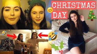SPEND CHRISTMAS DAY WITH ME | gift swap reaction, family games + fooood!