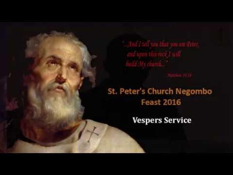 St. Peter's Church Negombo - Feast 2016 - Vespers Service