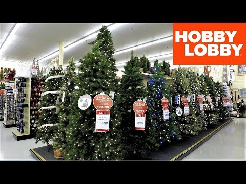 4K CHRISTMAS SECTION AT HOBBY LOBBY - Christmas Shopping Christmas Trees Decorations Ornaments