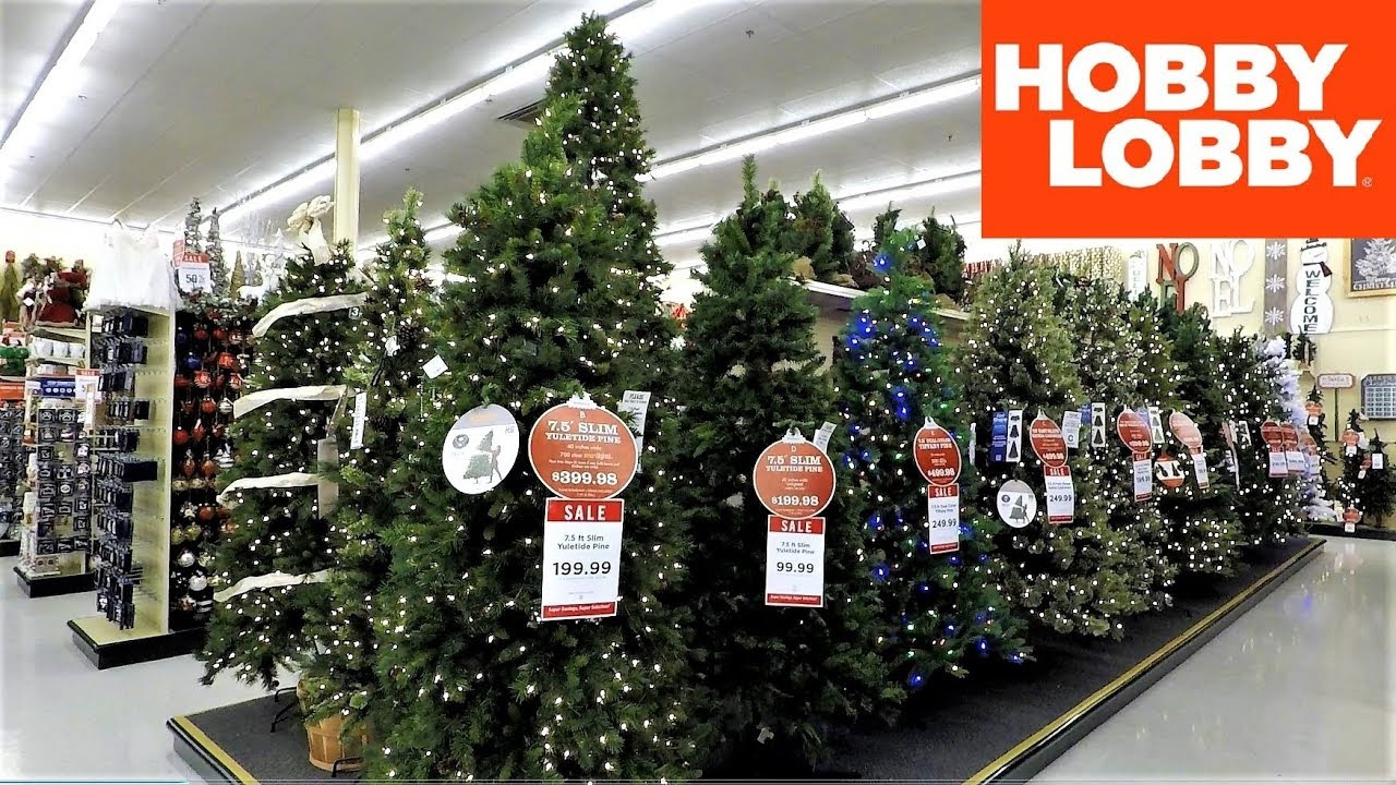 4k christmas section at hobby lobby christmas shopping christmas trees decorations ornaments - Skinny Christmas Trees Hobby Lobby