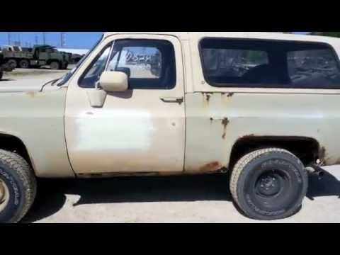 1986 Chevrolet M1009 4x4 CUCV Truck Blazer on ...