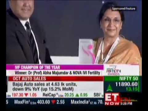 National Fertility Awards IVF Champion of The Year Winner Dr. Prof Abha Majumdar
