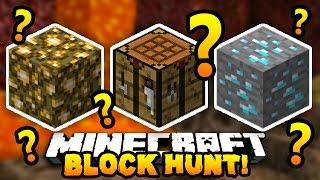 """Minecraft BLOCK HUNT """"BEST HIDER!"""" #9 w/ Preston, CampingRusher & Lachlan"""
