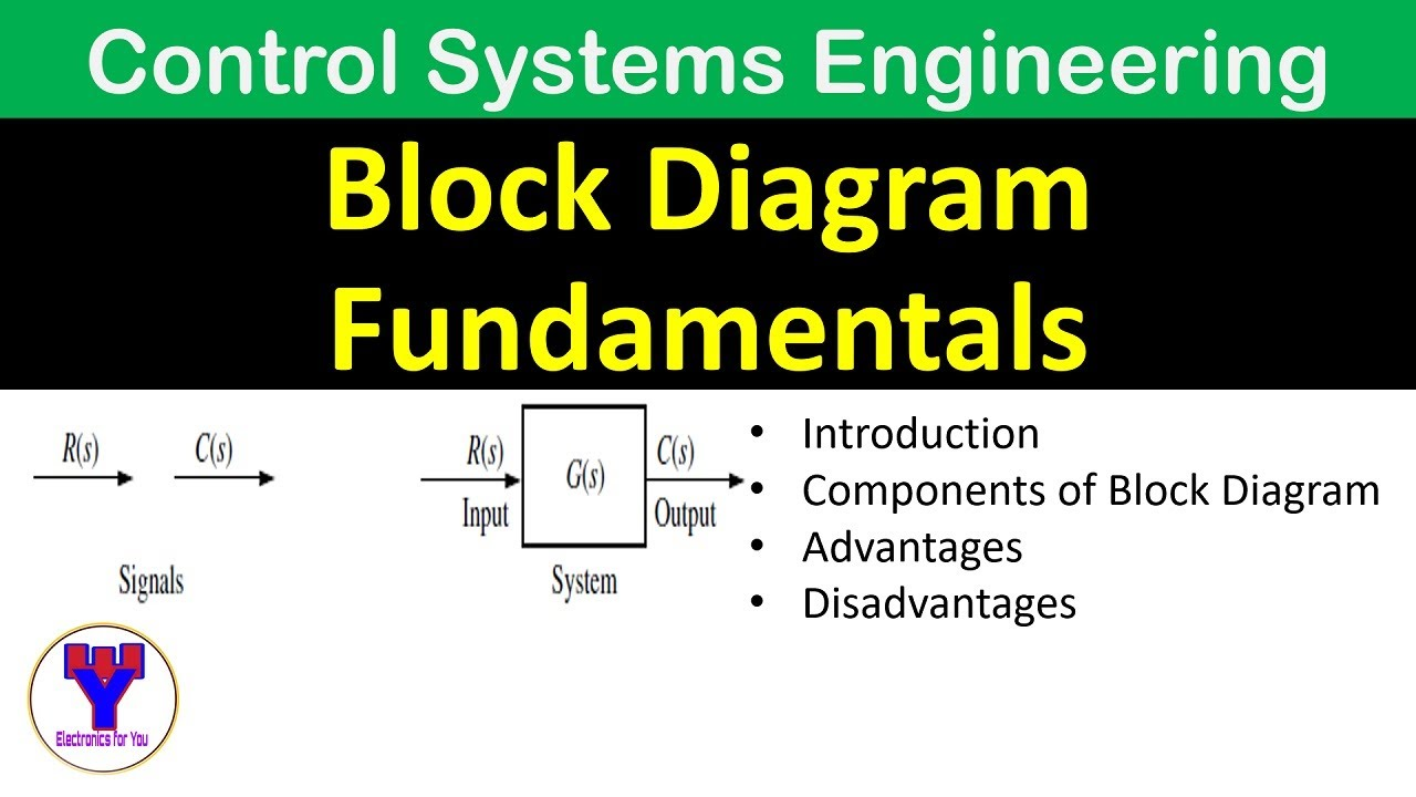 Block diagram fundamentals | Introduction to block diagrams in Control  Systems - YouTube | Advantages Of Block Diagram |  | YouTube