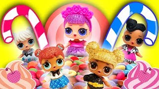 LOL Surprise Dolls Open a Candy Store Riddle Game. Starring Sugar Queen, Hoops and Teachers Pet!