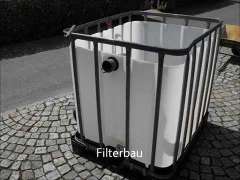 filterbau teichfilter gartenteichfilteranlage youtube. Black Bedroom Furniture Sets. Home Design Ideas