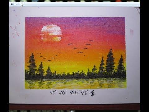 Vẽ tranh phong cảnh –  Vẽ cảnh đàn chim đón ánh bình minh