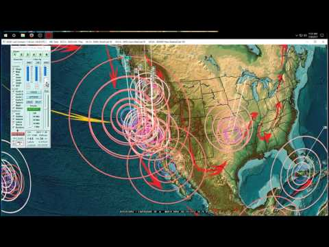 7/30/2017 -- United States / North America earthquake update -- California moving, midwest on watch