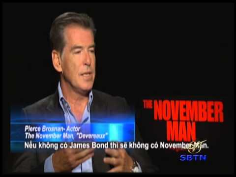 Pierce Brosnan Exclusive Interview for THE NOVEMBER MAN 2014