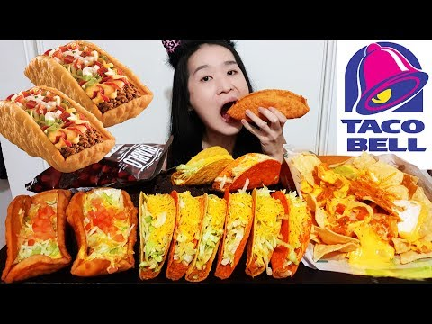 massive-taco-bell-double-chalupa-feast!-crunchy-tacos,-cheesy-loaded-nachos-&-tortilla-chips-mukbang