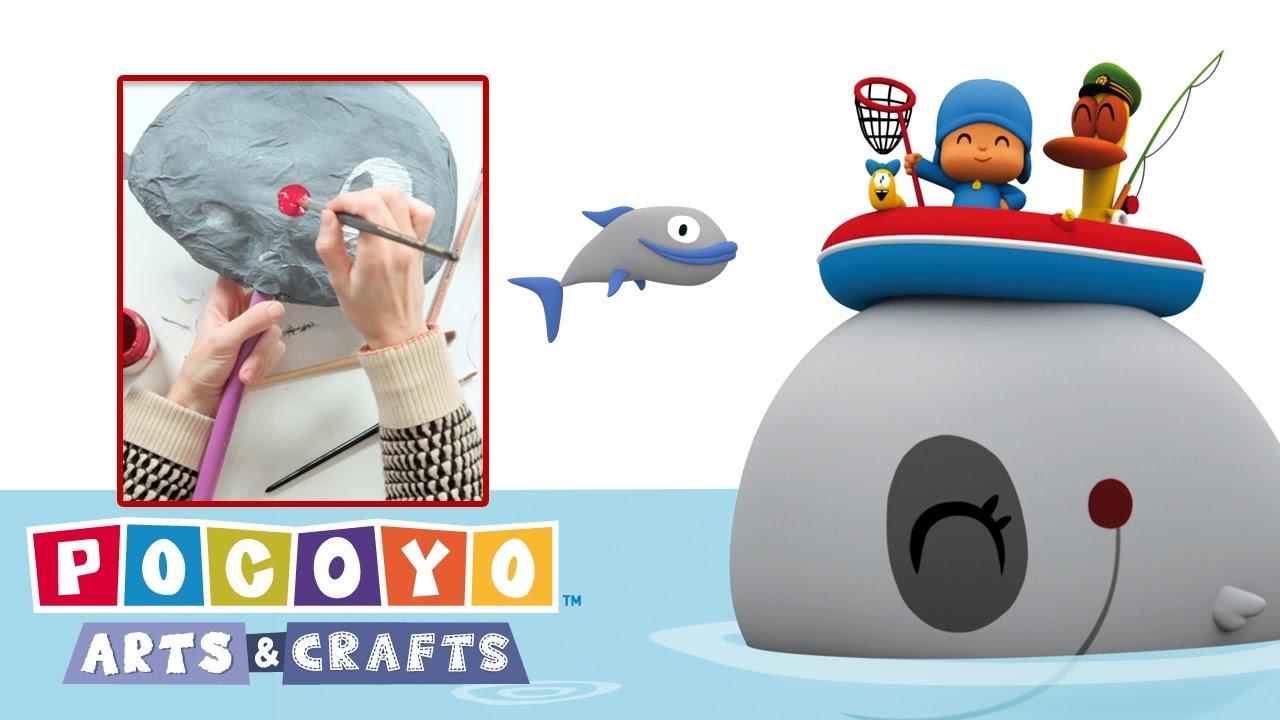 pocoyo arts u0026 crafts paper whale carnival youtube
