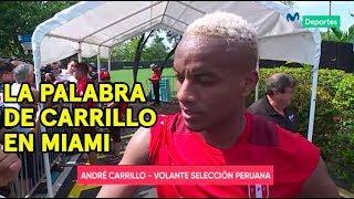 André Carrillo y su palabra previo al partido entre Perú vs. Croacia