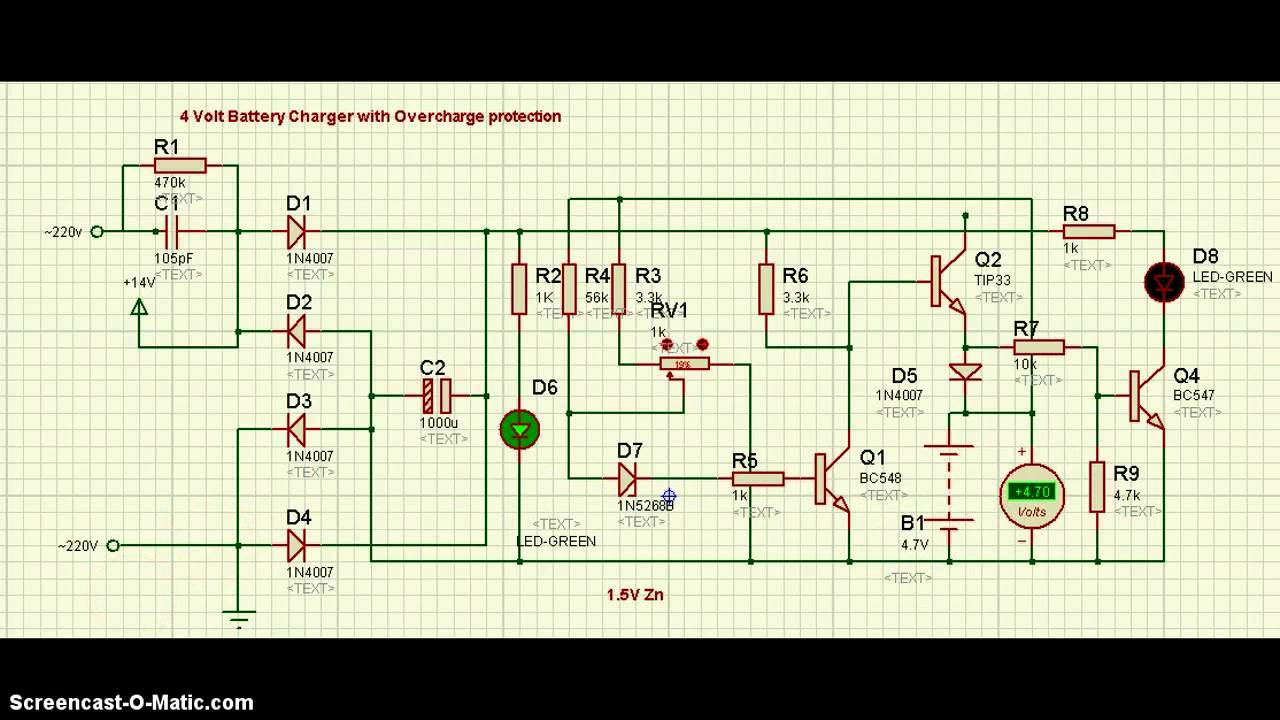 12v battery charger circuit with overcharge protection [ 1280 x 720 Pixel ]