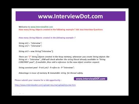 How many java string objects created in the following example job java interview