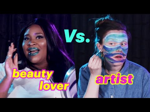 Beauty Lover Vs. Artist  Ocean Makeup Challenge