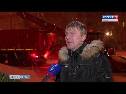 На улицы Перми вышло рекордное количество снегоуборочной техники