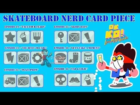 Code Unlocked Skateboard Nerd Card - OK K.O.! Let's Play Heroes (Part 4)