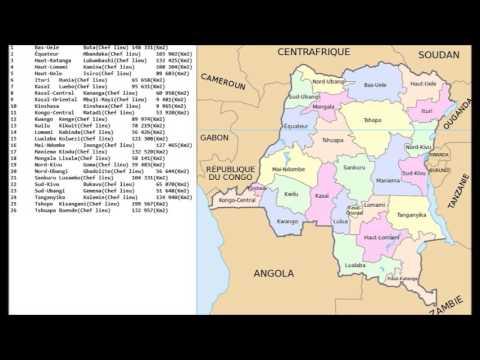 MJC vous présente les 26 provinces de la RD Congo