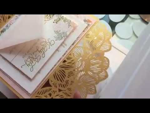 The review vedio from our dealer, laser cut invitations & invitation box