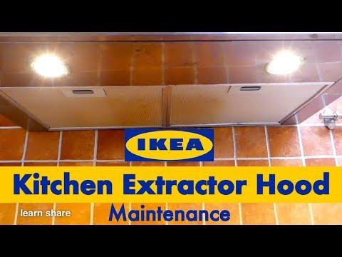 IKEA Kitchen Extractor Hood - How to Clean Exhaust Fan, Fix Cooking Hood