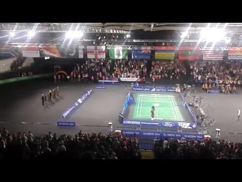 Malaysian National Anthem Glasgow 2014 Badminton -