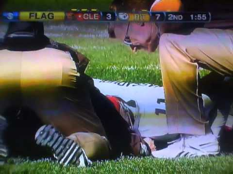 STEELERS James Harrison hard hit on Browns Mohamed Massaquoi