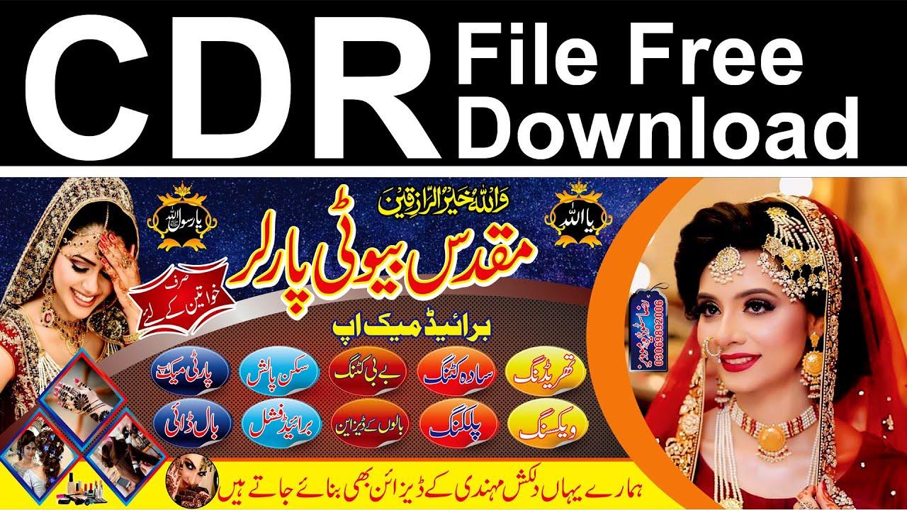 Ladies Beauty Parlour Flex Banner Design Free Download Cdr File Youtube